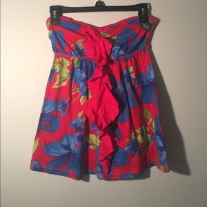 NWT Abercrombie & Fitch Strapless Floral Top